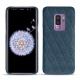 Coque cuir Samsung Galaxy S9+ - Indigo - Couture ( Pantone 303U )