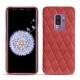 Coque cuir Samsung Galaxy S9+ - Cerise vintage - Couture