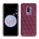 Samsung Galaxy S9+ leather cover - Prune vintage - Couture