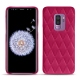 Coque cuir Samsung Galaxy S9+ - Rose fluo - Couture