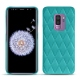 Coque cuir Samsung Galaxy S9+ - Bleu fluo - Couture