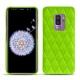 Coque cuir Samsung Galaxy S9+ - Vert fluo - Couture