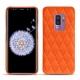 Coque cuir Samsung Galaxy S9+ - Orange fluo - Couture