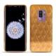 Coque cuir Samsung Galaxy S9+ - Or Maïa - Couture