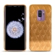 Samsung Galaxy S9+ leather cover - Or Maïa - Couture
