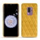 Samsung Galaxy S9+ leather cover - Jaune soulèu - Couture