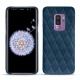 Custodia in pelle Samsung Galaxy S9+ - Blu mediterran - Couture