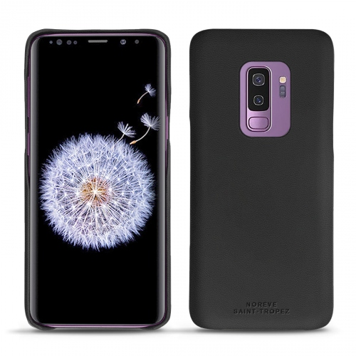 Samsung Galaxy S9+ leather cover - Noir PU