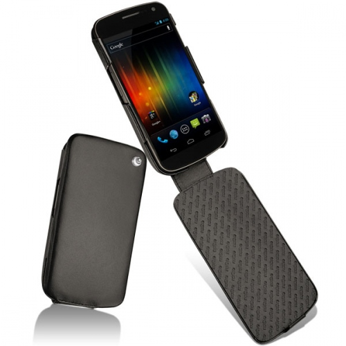 Samsung Galaxy Nexus  leather case - Noir ( Nappa - Black )
