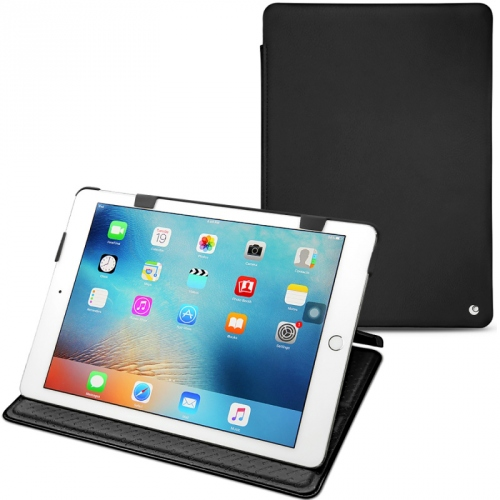 "Apple iPad 9.7"" (2017) leather case - Noir ( Nappa - Black )"