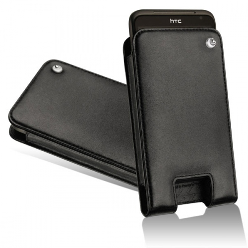 HTC Sensation XL - HTC Titan leather case - Noir ( Nappa - Black )