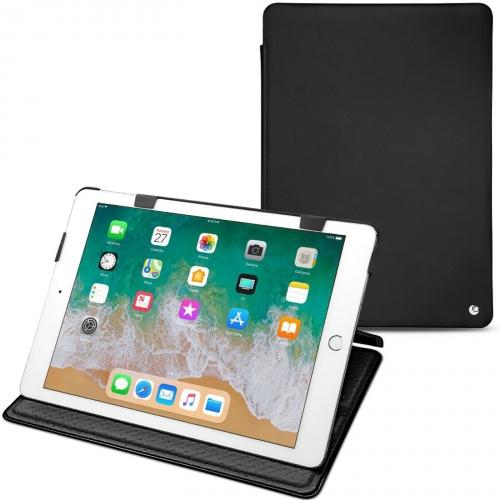 """レザーケース Apple iPad 9.7"""" (2018) - Noir ( Nappa - Black )"""