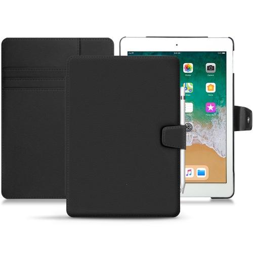 """Apple iPad 9.7"""" (2018) leather case - Noir PU"""