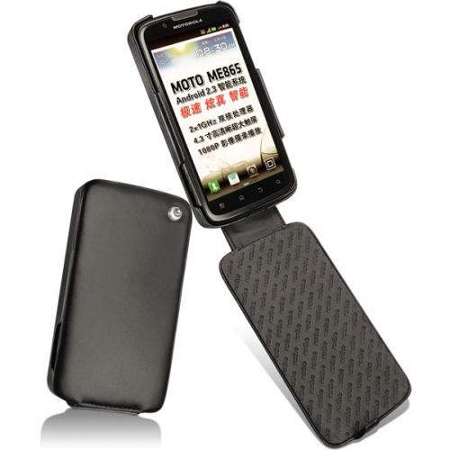 Motorola Atrix 2 4G ME865  leather case - Noir ( Nappa - Black )