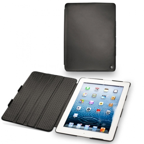 Apple iPad 3 leather case - Noir ( Nappa - Black )