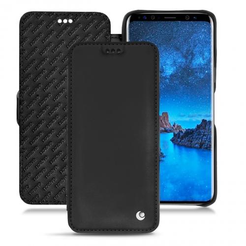 レザーケース Samsung Galaxy S9 - Noir ( Nappa - Black )