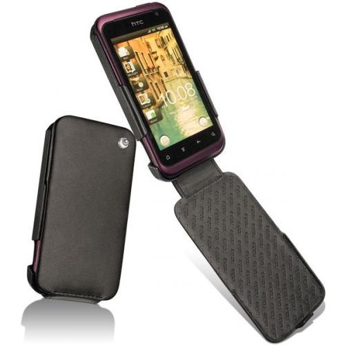 HTC Rhyme  leather case - Noir ( Nappa - Black )