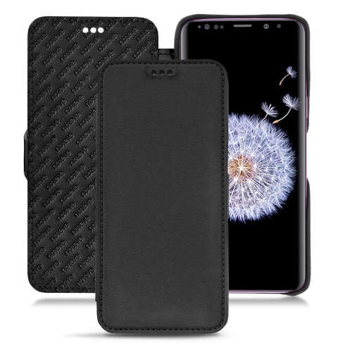 Samsung Galaxy S9+ leather case - Noir PU