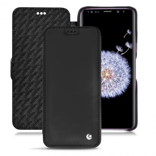レザーケース Samsung Galaxy S9+ - Noir ( Nappa - Black )