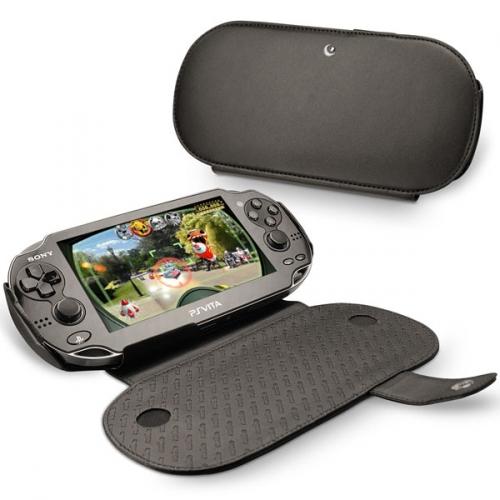 Custodia in pelle Sony Playstation Vita  - Noir ( Nappa - Black )