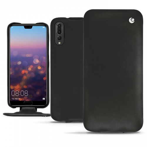 Huawei P20 Pro leather case - Noir ( Nappa - Black )