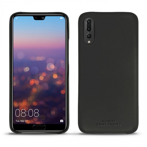 Huawei P20 Pro leather cover - Noir PU