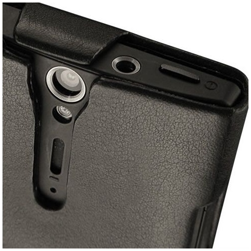 Housse cuir Sony Xperia S