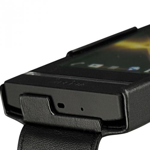 Sony Xperia U  leather case