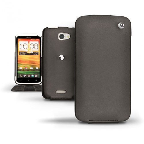 Custodia in pelle HTC One X - HTC One XL  - Noir ( Nappa - Black )