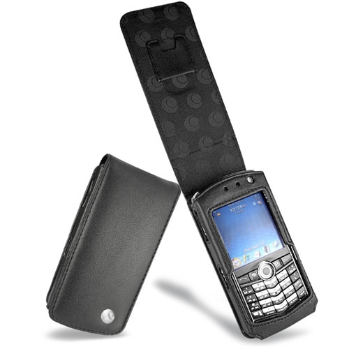 BlackBerry Pearl 8100 series  leather case - Noir ( Nappa - Black )