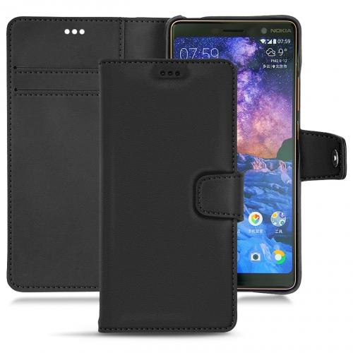 レザーケース Nokia 7 Plus - Noir PU