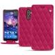 Nokia 7 Plus leather case - Rose fluo - Couture