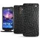 Nokia 7 Plus leather case - Autruche nero