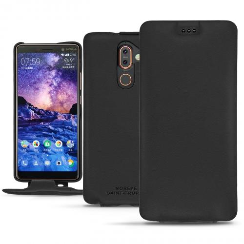 Nokia 7 Plus leather case - Noir PU