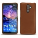 Nokia 7 Plus leather cover - Marron ( Nappa - Pantone 1615C )