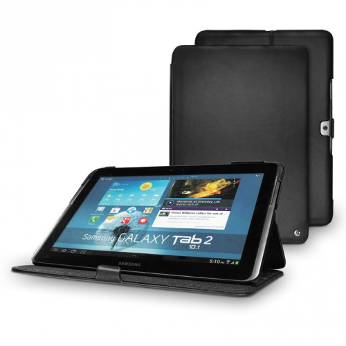 Housse cuir Samsung Galaxy Tab 2 10.1  - Noir ( Nappa - Black )