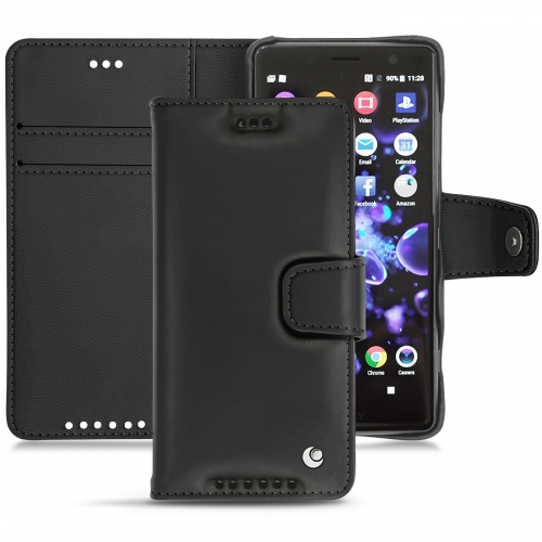 Housse cuir Sony Xperia XZ2 Compact