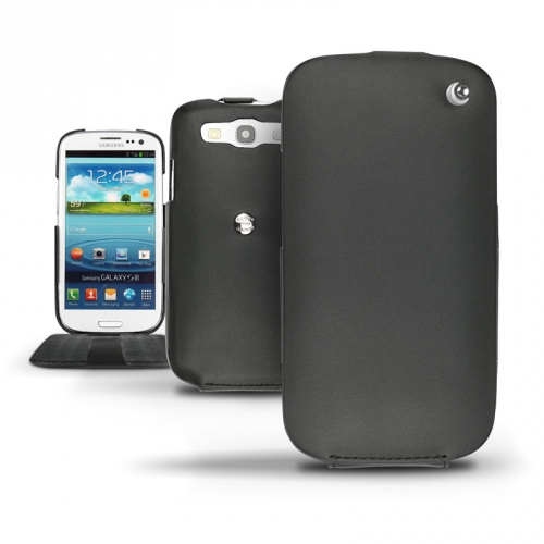 Lederschutzhülle Samsung GT-i9300 Galaxy S III  - Noir ( Nappa - Black )