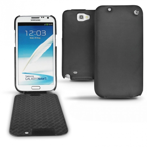 Samsung Galaxy Note 2  leather case - Noir ( Nappa - Black )