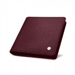 名刺入れ財布 - Rose ( Nappa - Pantone 2365C )