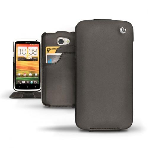 Housse cuir HTC One X - HTC One XL - Noir ( Nappa - Black )