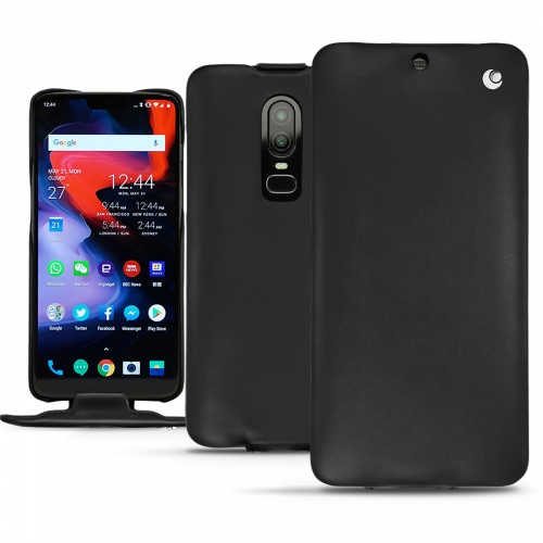 Custodia in pelle OnePlus 6 - Noir ( Nappa - Black )