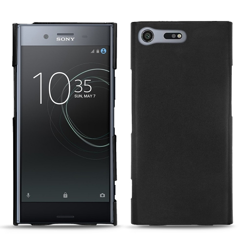 Sony Xperia XZ Premium leather cover - Noir ( Nappa - Black )