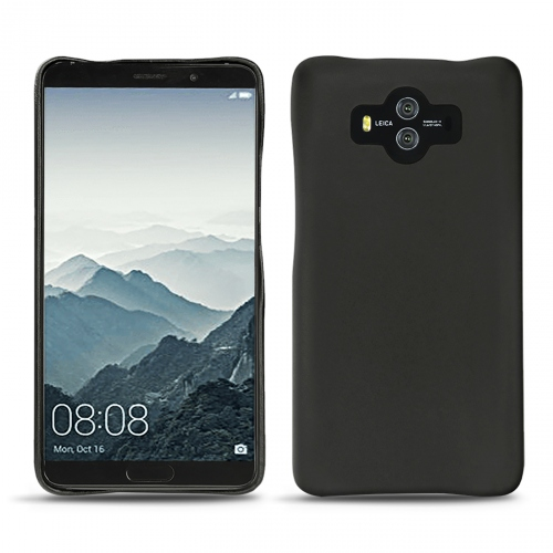 Huawei Mate 10 leather cover - Noir ( Nappa - Black )