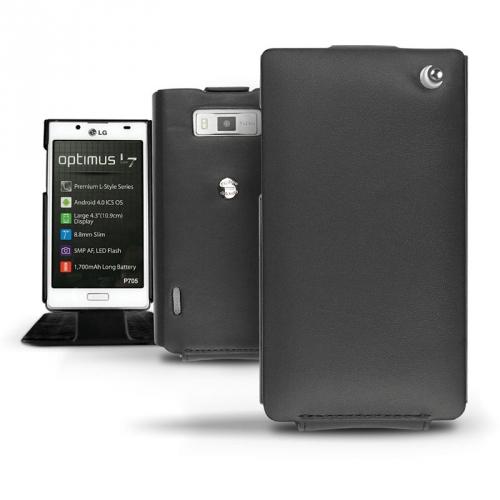 Housse cuir LG Optimus L7 P700  - Noir ( Nappa - Black )