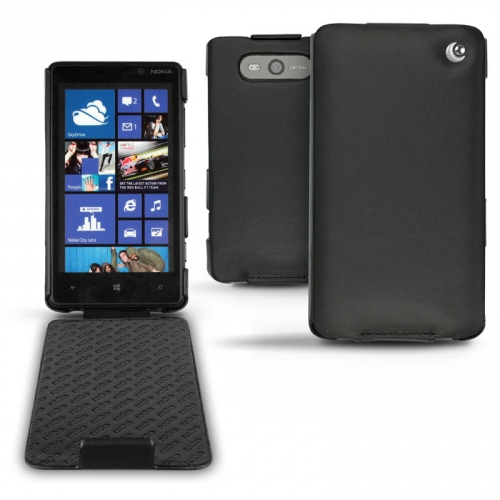 Nokia Lumia 820  leather case - Noir ( Nappa - Black )