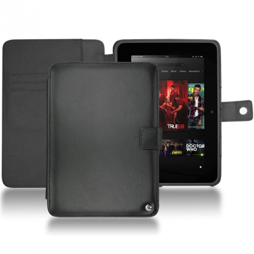 Housse cuir Amazon Kindle Fire HD  - Noir ( Nappa - Black )
