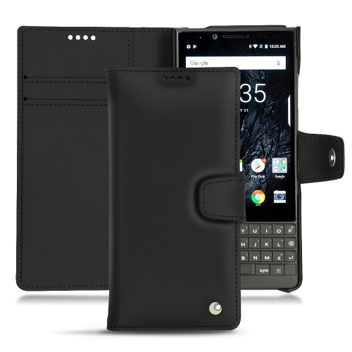 Custodia in pelle Blackberry Key2 - Noir ( Nappa - Black )