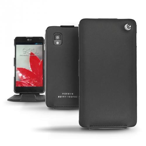 Housse cuir LG Optimus G  - Noir ( Nappa - Black )