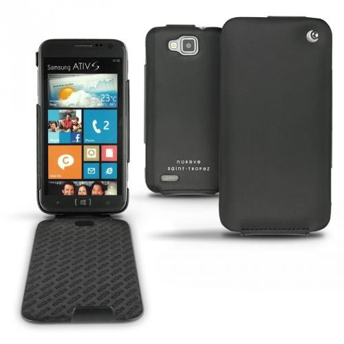 Housse cuir Samsung GT-i8750 Ativ S  - Noir ( Nappa - Black )